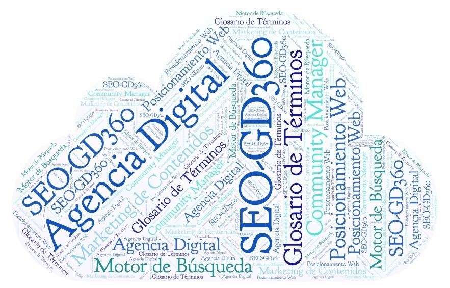 glosario de términos SEO y marketing de contenidos - GD360 - Nube Letras